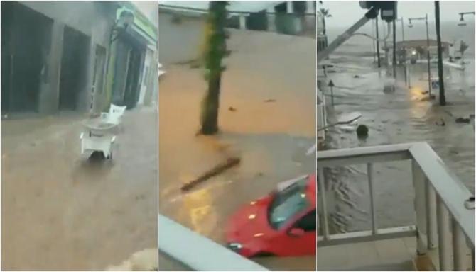Inundații masive în nord-estul Spaniei. Puhoaiele au măturat tot. Autoritățile au cerut locuitorilor să rămână în case  - VIDEO