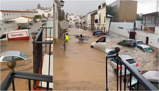 Ploile torențiale au făcut PRĂPĂD în Spania. IMAGINILE DEZASTRULUI din Huelva și Andaluzia - VIDEO