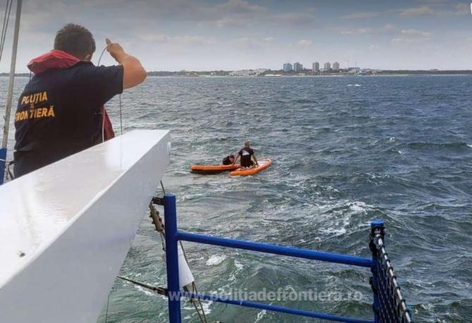 Șapte turiști aflați în pericol pe Marea Neagră, salvați de Garda de Coastă 1