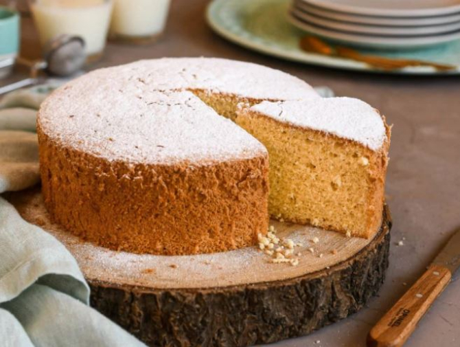 Tort Margherita sau pandișpan italian. Un desert delicios dintr-un minim de ingrediente. Pufos, umed și gustos