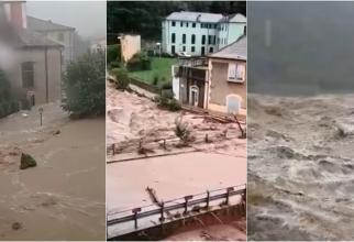 Inundațiile din Grecia au făcut prima victimă. Oamenii se urcă pe acoperișurile caselor