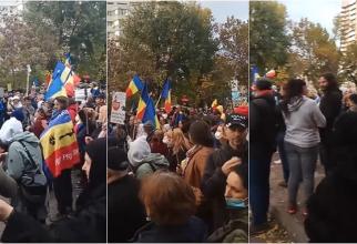Protest în București împotriva noilor restricţii care vor intra în vigoare de mâine