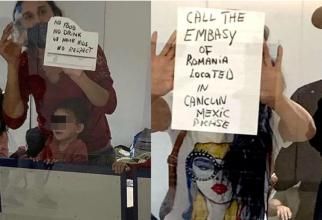Zeci de ROMÂNI, inclusiv copii, BLOCAȚI de CINCI ZILE pe Aeroportul din Cancun: Fără mâncare, fără apă și fără respectarea drepturilor umane. FOTO: captură radioformulaqr.com