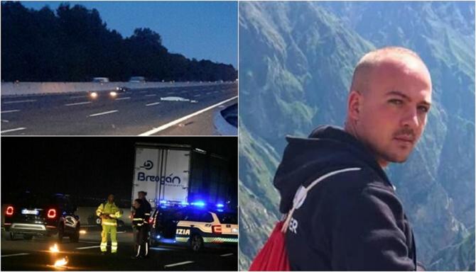 Accident mortal pe A4, în Italia. Două TIR-uri s-au pus de-a latul pe șosea pentru a-i proteja trupul lui Cristian