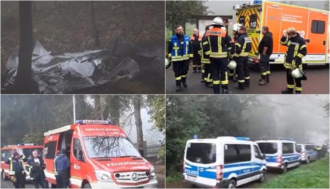 Un avion s-a prăbușit în Germania. Nu există niciun supraviețuitor. Cadavrele nu au fost încă identificate