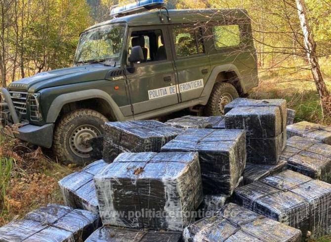 Marfă de contrabandă, de mii de lei, confiscată la frontiera cu Ucraina