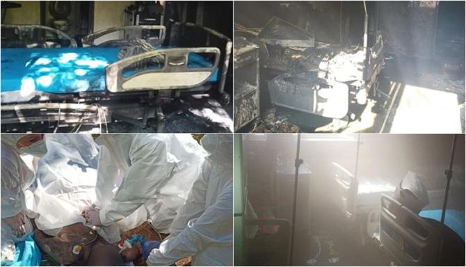 Primele fotografii din interiorul spitalului ars de la Constanța. Imagini tulburătoare. FOTO: colaj Facebook @Ordinea.ro