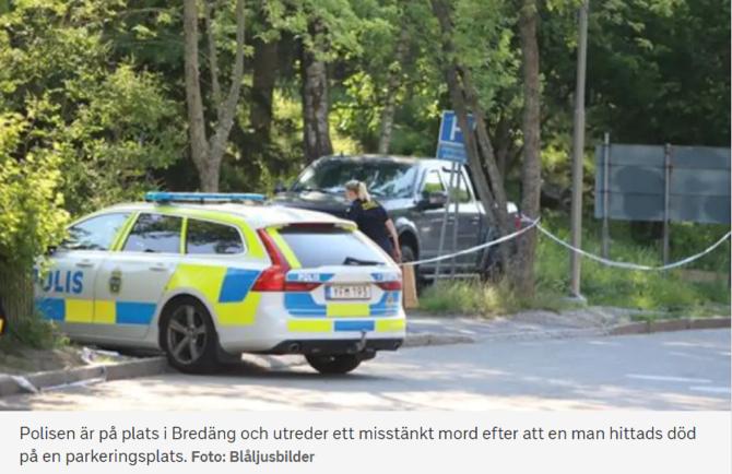 Român, găsit mort într-o parcare din Suedia. FOTO: captură svt.se