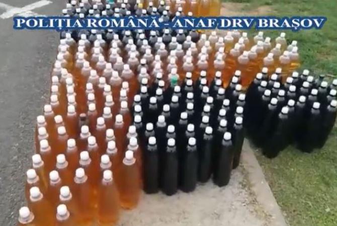 Transport ilegal cu 500 litri de vin moldovenesc, oprit la intrare în România. Alcoolul urma ajungă în Irlanda